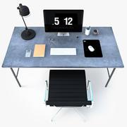 Industrial Office Desk 3d model