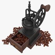 Moulin à café avec des haricots 3d model