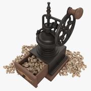 Koffiemolen Met Bonen (Wit) 3d model