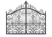Ornate Cast Iron Gates 3d model