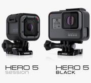 GoPro HERO 5 Black and Session 3d model