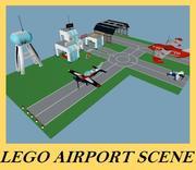 乐高机场集 3d model