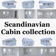 Скандинавская коллекция салонов с интерьерами 3d model