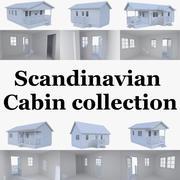 Skandinavische Kabinensammlung mit Innenraum 3d model