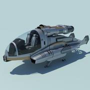 Concetto di veicolo volante 3d model