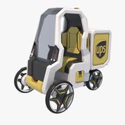 Городская Доставка Концепция Почтовых Автомобилей 3d model