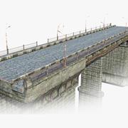 放棄された道路橋01 3d model