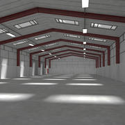 Warehouse Interior And Exterior 2 3d model