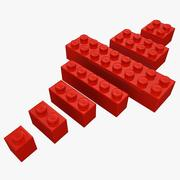 Lego Bricks Set (Low Poly) 3d model