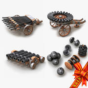 Cannons Collection 3d model