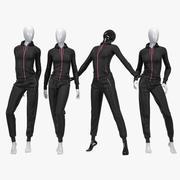 Female sport suit 3d model