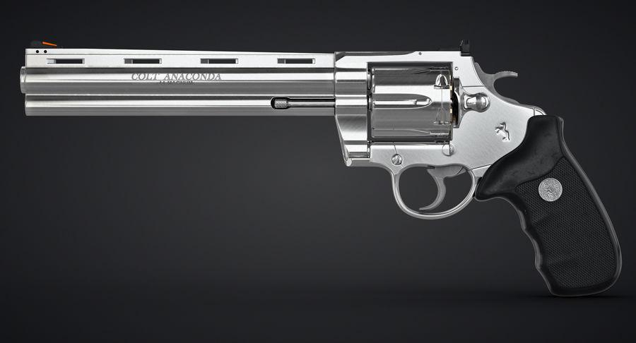 Revolver Colt Anaconda royalty-free 3d model - Preview no. 7