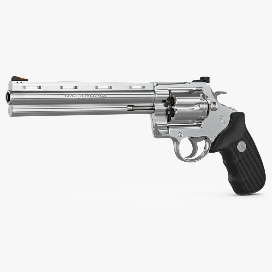 Revolver Colt Anaconda royalty-free 3d model - Preview no. 1