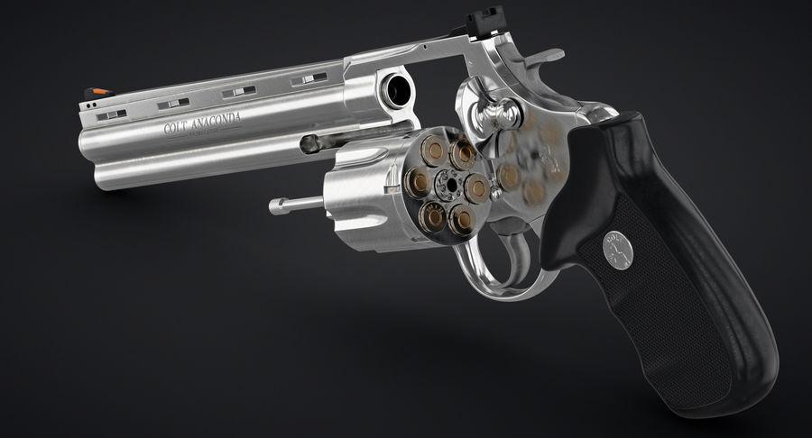 Revolver Colt Anaconda royalty-free 3d model - Preview no. 6