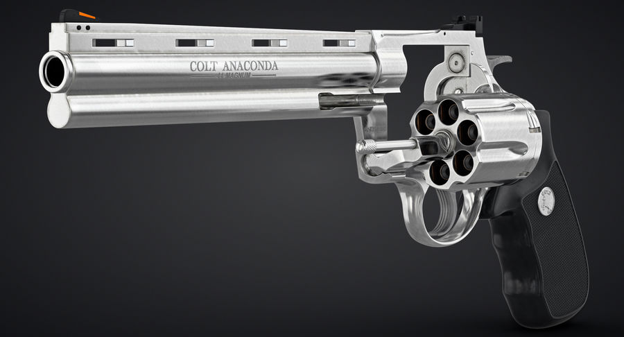 Revolver Colt Anaconda royalty-free 3d model - Preview no. 4
