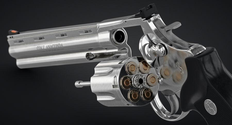 Revolver Colt Anaconda royalty-free 3d model - Preview no. 11
