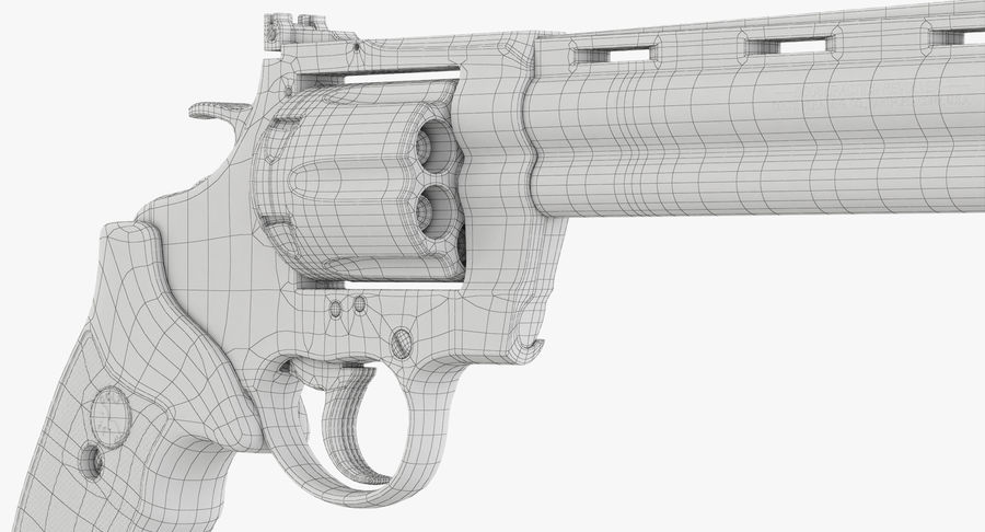 Revolver Colt Anaconda royalty-free 3d model - Preview no. 48