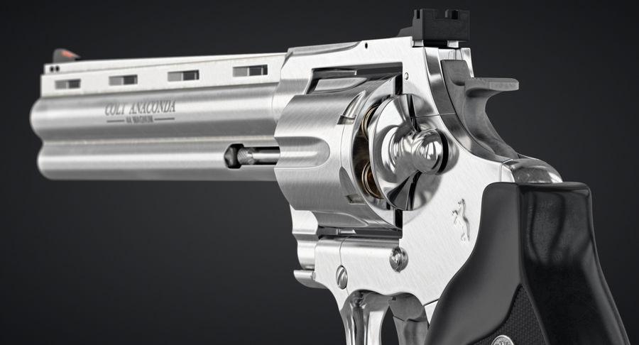Revolver Colt Anaconda royalty-free 3d model - Preview no. 9