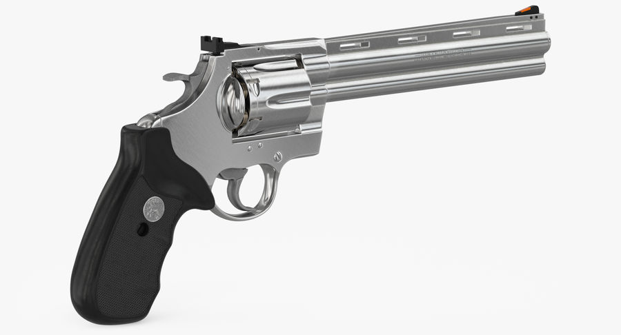 Revolver Colt Anaconda royalty-free 3d model - Preview no. 13