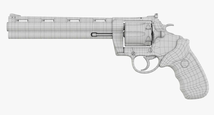 Revolver Colt Anaconda royalty-free 3d model - Preview no. 47