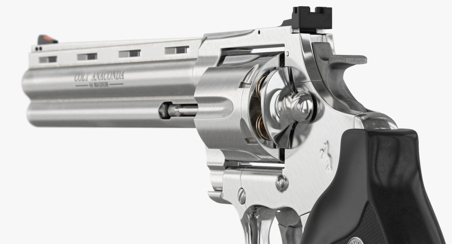 Revolver Colt Anaconda royalty-free 3d model - Preview no. 32