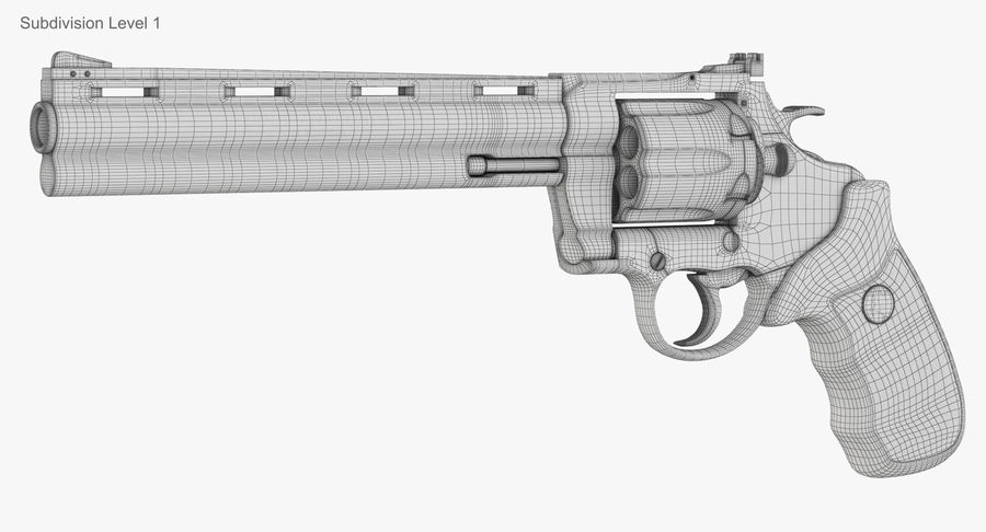 Revolver Colt Anaconda royalty-free 3d model - Preview no. 54