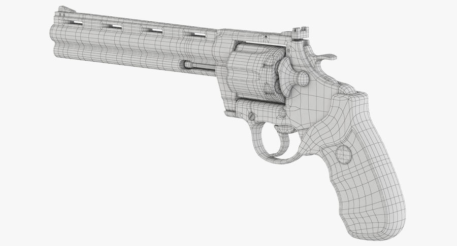 Revolver Colt Anaconda royalty-free 3d model - Preview no. 42