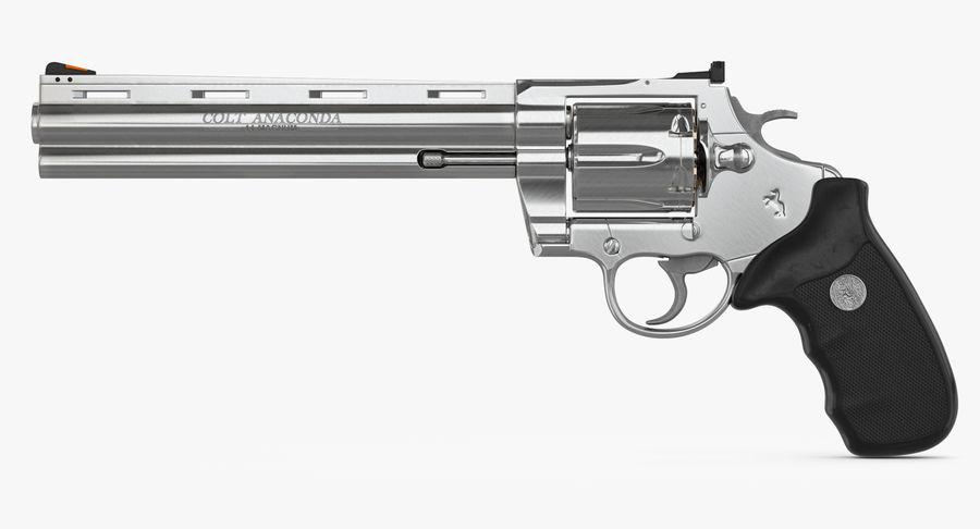 Revolver Colt Anaconda royalty-free 3d model - Preview no. 23