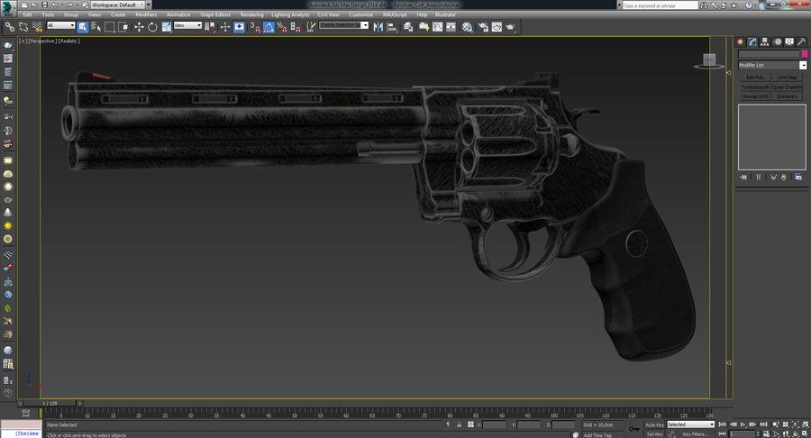 Revolver Colt Anaconda royalty-free 3d model - Preview no. 59