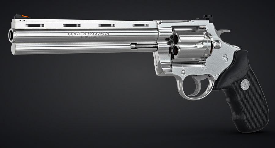 Revolver Colt Anaconda royalty-free 3d model - Preview no. 3