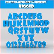 卡通字母数字 3d model