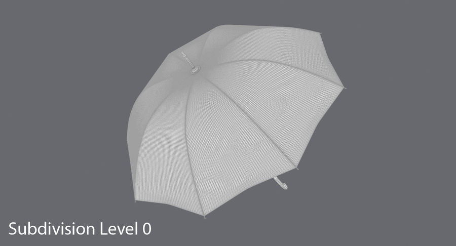 Otwórz parasol 02 royalty-free 3d model - Preview no. 15