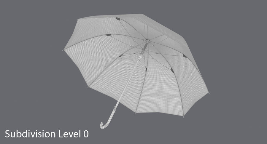 Otwórz parasol 02 royalty-free 3d model - Preview no. 13