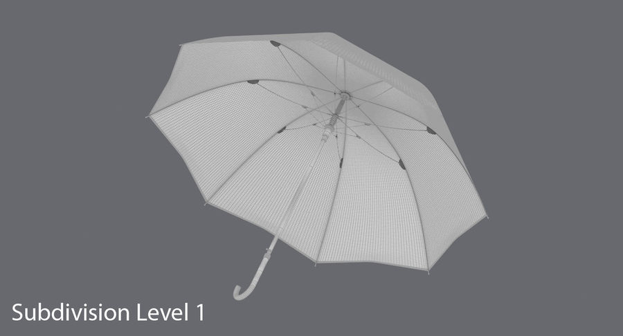 Otwórz parasol 02 royalty-free 3d model - Preview no. 16