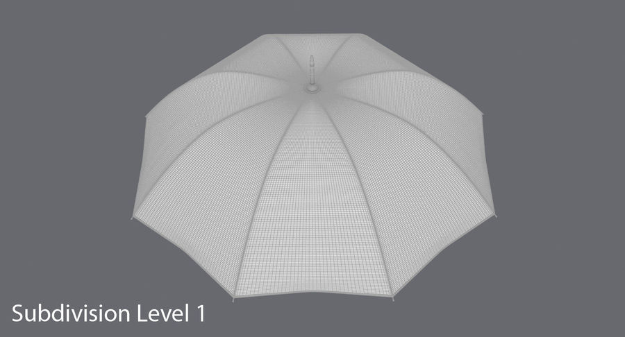 Otwórz parasol 02 royalty-free 3d model - Preview no. 17