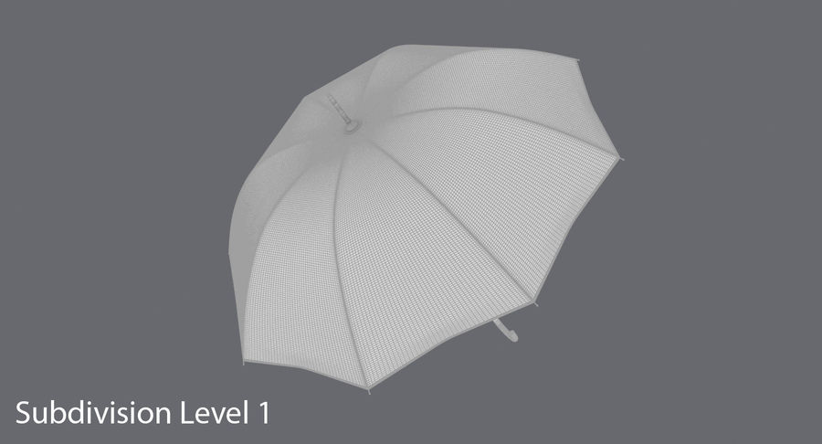 Otwórz parasol 02 royalty-free 3d model - Preview no. 18