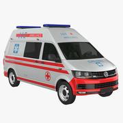 VW T6 Ambulance 3d model