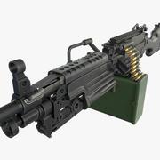 Ametralladora M249 modelo 3d