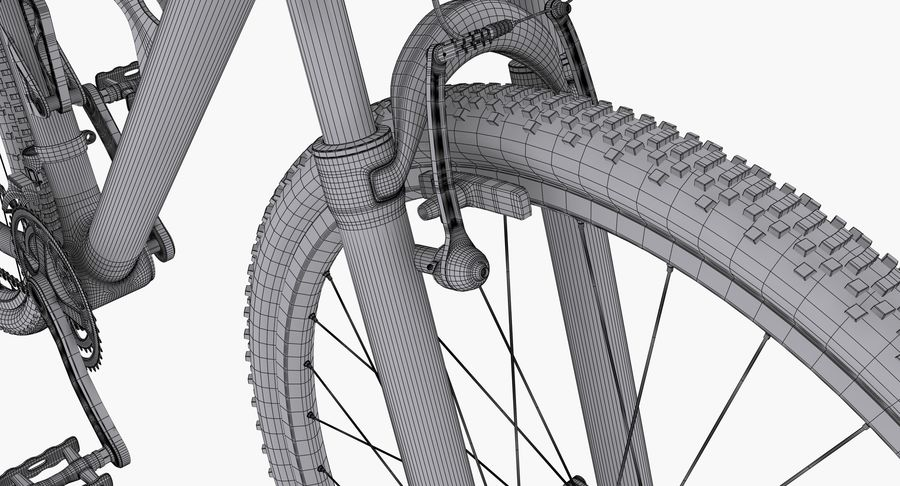 Mountainbike royalty-free 3d model - Preview no. 18