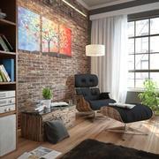 当代客厅 3d model