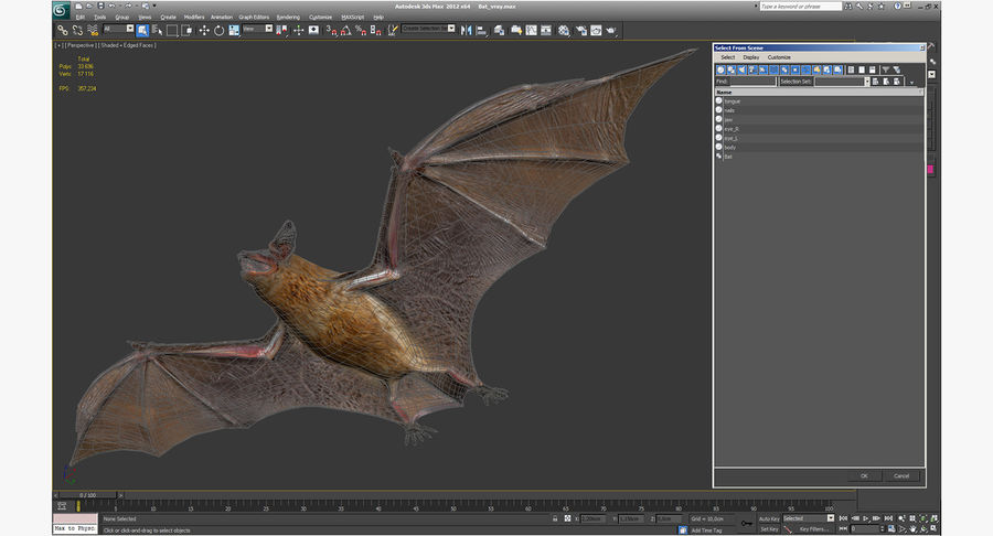Bat royalty-free 3d model - Preview no. 20