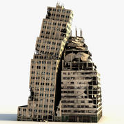 Lexington Tower Ruined Low Poly 3d model