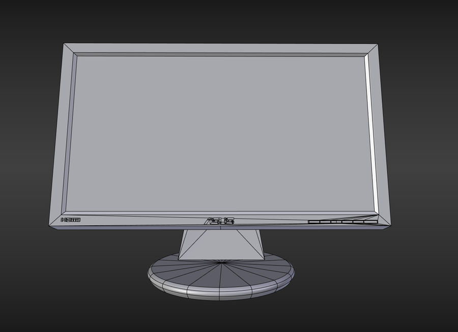 PC Monitor ASUS royalty-free 3d model - Preview no. 3