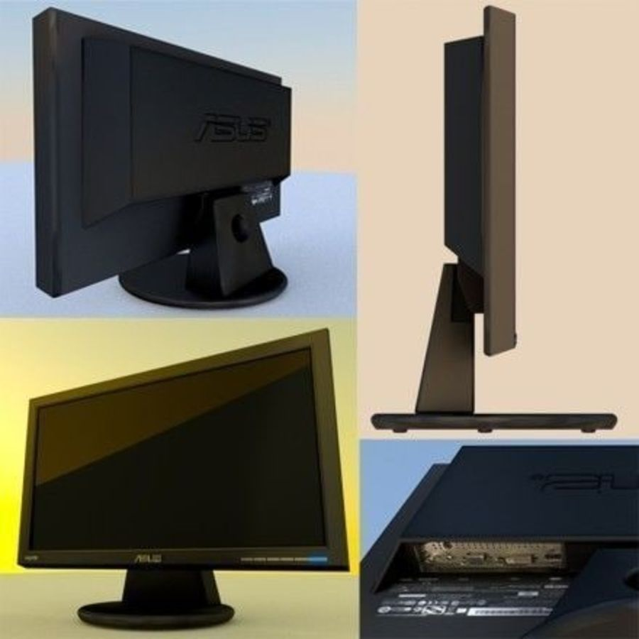 PC Monitor ASUS royalty-free 3d model - Preview no. 1