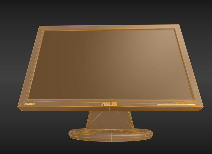 PC Monitor ASUS royalty-free 3d model - Preview no. 9