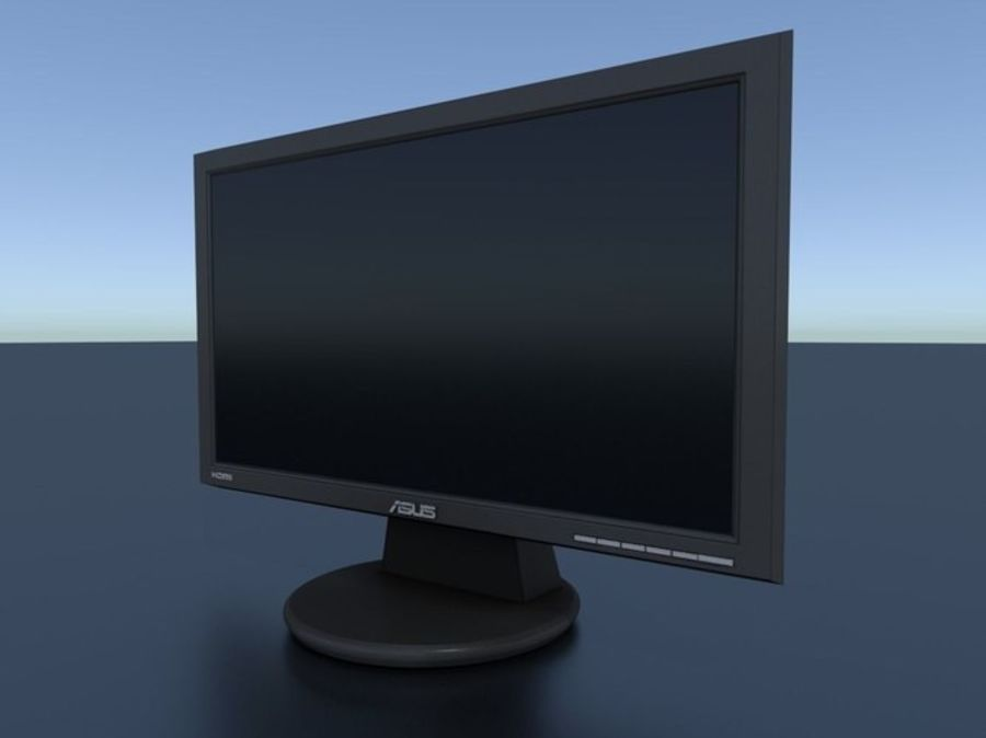 PC Monitor ASUS royalty-free 3d model - Preview no. 15