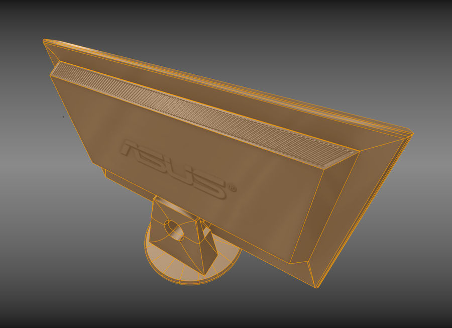 PC Monitor ASUS royalty-free 3d model - Preview no. 10