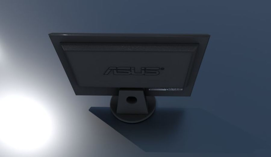 PC Monitor ASUS royalty-free 3d model - Preview no. 2