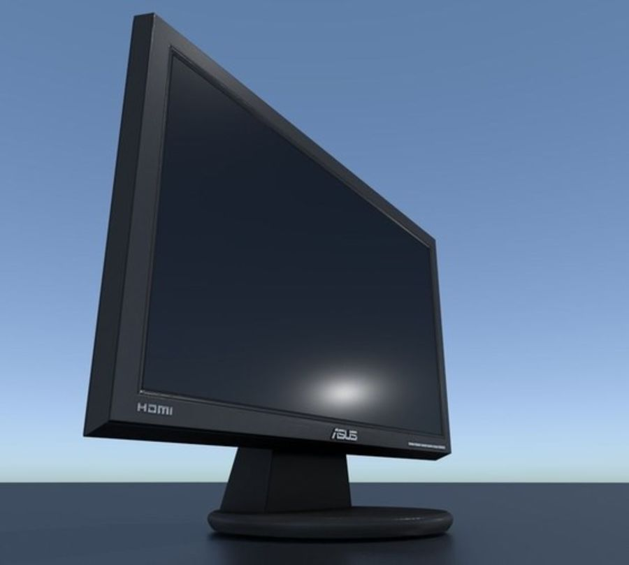 PC Monitor ASUS royalty-free 3d model - Preview no. 19
