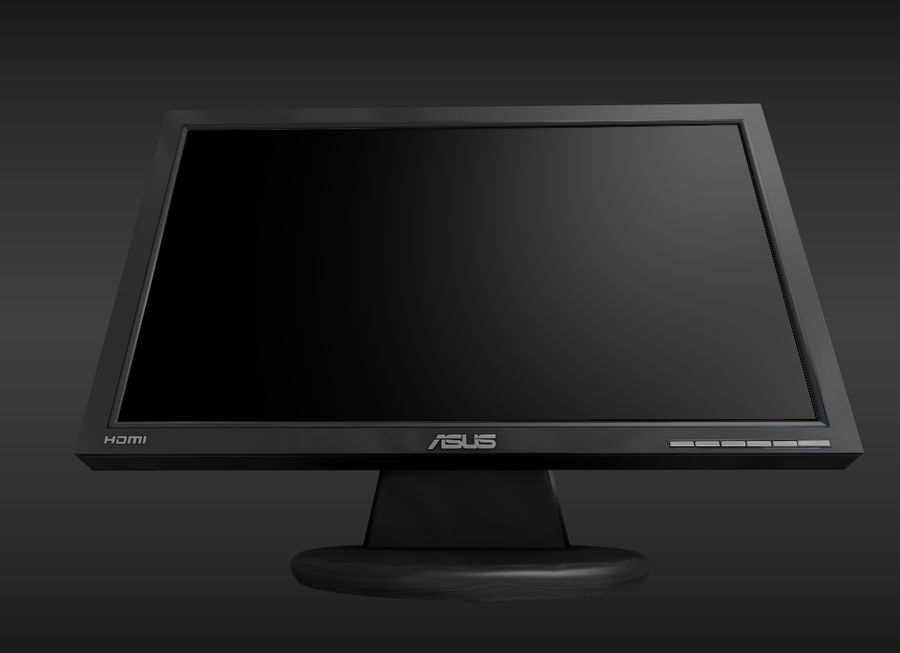 PC Monitor ASUS royalty-free 3d model - Preview no. 8